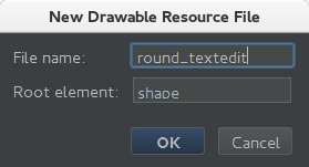 Create rounded TextEdit input box android